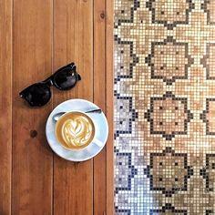 Always love a good coffee and floor tile combo  #18grams #coffeeroasterylab #tdlcoffee by trinnadeleon