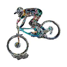 Check out this awesome 'mtb+downhill' design on Mountain Bike Parts, Mountain Biking, Montain Bike, Mtb Downhill, Bicycle Panniers, Bike Logo, Bike Poster, Emotional Photography, Boy Drawing