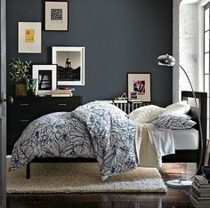 Beautiful Navy blue room!