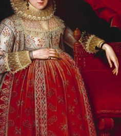 Marcus Gheeraerts II, Portrait of a Woman in Red, 1620
