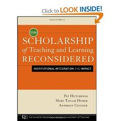 this important resource examines four critical areas where engagement with the scholarship of teaching and learning can have a significant effect. This book is intended for a broad audience of campus leaders, faculty, and people in foundations and other education associations with an interest in supporting new directions in teaching and learning.