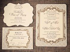 gorgeous baroque elegance invitation