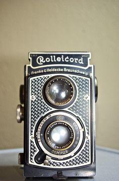 Rare Vintage Art Deco Rolleicord Camera, c. 1933 - 1936. $175.00, via Etsy.