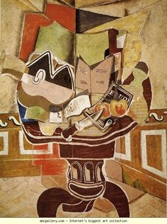 Georges Braque. The Round Table. 1929. Oil on canvas. 144.8 x 114 cm. The Phillips Collection, Washington, DC, USA Olga's Gallery.