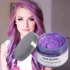 Professional Unisex Silver Ash Hair Wax Don't waste months with permanent hair dye. Try a new color every day of the week! Improve your look and turn stylish in minutes! Hair wax formula originally from Japan. Wash Out Hair Color, Change Hair Color, Hair Colour, Silver Ash Hair, Purple Hair, Washable Hair Color, Lighter Hair, Temporary Hair Color, Permanent Hair Dye