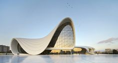 """Although architect great Zaha Hadid, """"Queen of the Curve,"""" left us in 2016, we are delighted to learn that her visions will continue to live on. The design of Opus Office Towers in Dubai echoes our favorite project of hers, the Heyday Aliyev Center in the Republic of Azerbaijan. Her goal was always to encourage meaningful interaction, """"to be able to excite you, to calm you, to make you think.""""  architecture, modern, inspiration, international, starchitect"""