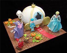 Cinderella Fairy Godmother Carriage Cake 1 (by Custom Cake Designs)