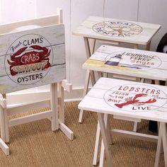 5-Piece Nautico Tray Table Set