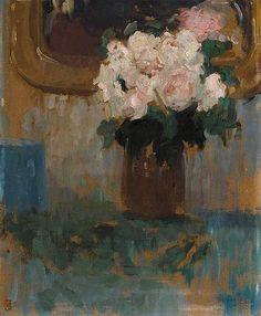 """Olga Boznanska """"Vase of Roses"""""""