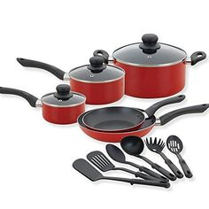Betty Crocker 80180 14 Piece Cookware Set Assorted Gray * Check out this great product.-It is an affiliate link to Amazon.