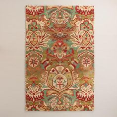 Hand-tufted in India of 100% wool pile, this high-quality rug features a floral medallion motif designed exclusively for World Market. Its plush underfoot feel and artful pattern bring an authentic touch to any room.