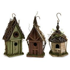 Bird Houses with a little grape vine .. <3