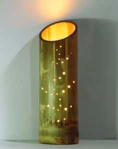 Feather design inspired bamboo lamp. @Bamboozledesign www.etsy.com/shop/bamboozledesign