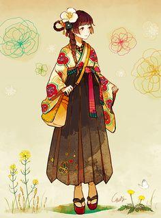 images for anime art Kimono Animé, Anime Kimono, Anime Dress, Art Anime Fille, Anime Art Girl, Manga Art, Anime Oc, Chica Anime Manga, Style Anime