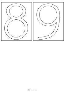 szablon cyfr - szorstkie cyferki