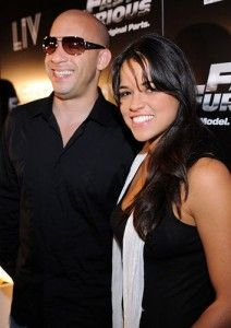 Michelle Rodriguez e Vin Diesel insieme in Fast and Furious