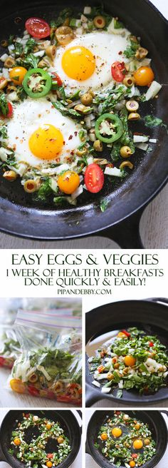 Make-Ahead Breakfast: Easy Eggs and Veggies | Spend 30 minutes prepping and SEVEN DAYS of healthy, warm, delicious breakfasts are taken care of!