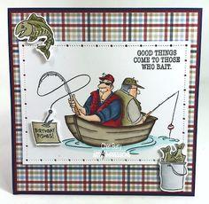 Handmade masculine birthday fishing car - Fishing Birthday Shirt - Ideas of Fishing Birthday Shirt - Art Impressions: Reel Great Guys set. Work and Play line. Birthday Greetings For Men, Birthday Cards For Men, Man Birthday, Funny Birthday, Birthday Wishes, Birthday Cakes, Happy Birthday, Masculine Birthday Cards, Masculine Cards