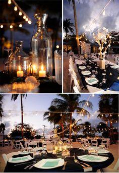 #cayman #wedding at dusk. Celebrations Ltd | Cayman Weddings & Events