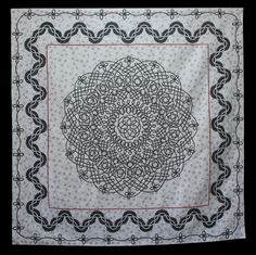 "Celtic knot quilt:  ""Never Ending Love"" by Margaret Tweedie.  2014 Queensland Quilters show.  Best Amateur Award."