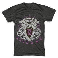 """T-Shirt men """"lucky number 13"""" FARBAUSWAHL! von MAD IN BERLIN auf DaWanda.com"""