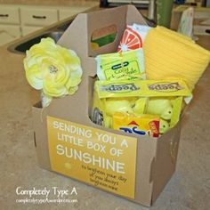 "Another version of ""A Box of Sunshine"" for surgery, illness, death in family, etc."