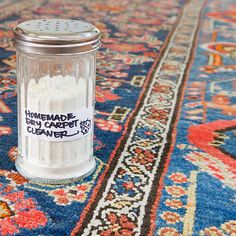 Here's how to make a natural dry carpet cleaner to freshen your rugs.