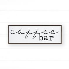 Every coffee bar deserves beautiful wall decor, especially when it's as beautiful as this Coffee Bar framed canvas / sign! This high-quality framed canvas is perfect for any kitchen wall decor and coffee lover - no matter the home decor style. It pairs perfectly with a farmhouse style (whether modern or rustic), chic boho, modern minimalist, mid-century, and every style in between. If you're looking for the perfect farmhouse find or gift idea for coffee lovers, this wood Coffee Bar sign is… Modern Farmhouse Decor, Farmhouse Kitchen Decor, Farmhouse Style, Text Frame, Coffee Bar Signs, Wall Bar, New Home Gifts, Rustic Signs, Canvas Frame