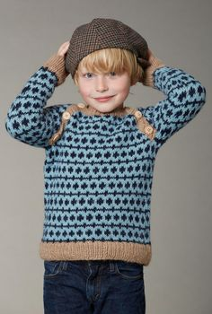 boys kids alpaca faroese sweater, photo from camarose knitting pattern, fuzzy fluffy childs childrens nordic fair-isle