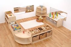 kita rume This low level furniture offer is sure to enhance any 2 year old room. You can use the 6 pieces together to form an enclosed area in which babies and toddlers can sit and play quie