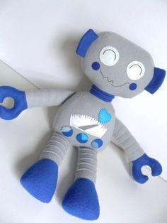 Kids - Baby & Toddler - Stuffed Toy - Rag Doll - Robot - Boy - Create Your Own Custom Order