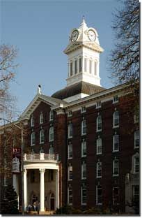 My Alma Mater ~ Kutztown  University  (look at the clock tower from an angle and it looks like a chicken!)