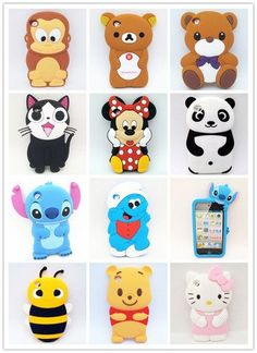 1x 3D Cute Cartoon Animal For Apple iPod Touch 4 4th GEN TPU Silicone Case Cover