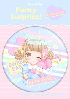 Manamoko - Badges - Fancy Surprise - PHOOEY SHOP