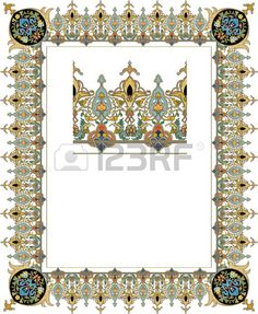 Detailed ornate thick frame