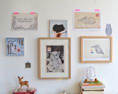 Prints, wooden tiles and postcards for sale in webshop www.anjamulder.com