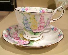 Royal Albert Pink Blue Yellow And Lavendar Floral Tea Cup and Saucer #RoyalAlbert