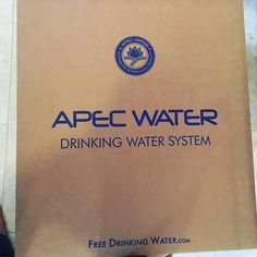 Loving our new reverse osmosis water filter from Apec. #organic  #dihydrogenmonoxide