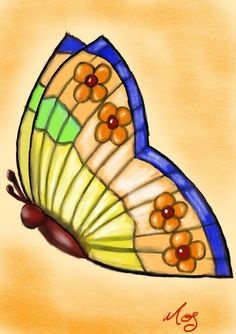 "Knot Sew Plain on Twitter: ""Butterfly Tiffany Lamp drawn on my iPad Pro  #drawing #practice #butterfly #ThursdayThoughts… """