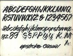 """hand lettering lesson - """"UpStroke Casual"""""""