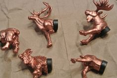 diy copper 'heads and tails' animal magnets on craftawl.com