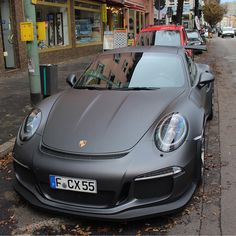Matte black first delivery Porsche 911 Models, Porsche Sports Car, Porsche Gt3, Porsche 911 Turbo, Porsche Cars, Weird Cars, Cool Cars, Black Porsche, Porsche Classic