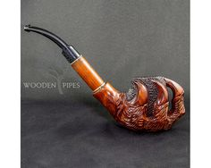 Long Tabacco Smoking Pipe SUPER CLAWS & von EXCLUSIVEWoodenPipes