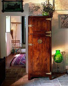 geladeira madeira:
