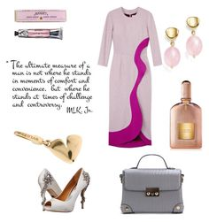 """Untitled #23"" by olga-shevtsova on Polyvore featuring Roksanda Ilincic, Badgley Mischka, Soap & Paper Factory, Tom Ford, Bulgari and Bloomingdale's"