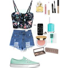 Summer fashion by laurenduke8 on Polyvore featuring polyvore, fashion, style, Vans, Urban Decay, Isaac Mizrahi, NARS Cosmetics, Lord & Berry, Marc Jacobs and Essie