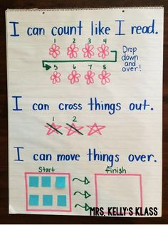Teaching kiddos strategies for counting one to one.