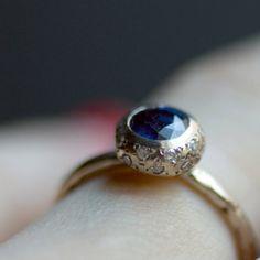 etsyfindoftheday:  etsyfindoftheday   SUPER BONUS FIND   2.24.14  'aliyah' sapphire and diamond ring by venaamorisjewelry  are you KIDDING ME with this ring, venaamorisjewelery?! oh man.