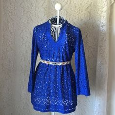 NWT Royal Blue Lace Tunic Don't be shy, make an offer!!! I'd be happy to answer any questions you may have or help you bundle up a few of your favorites at a discounted price! :) Nicole by Nicole Miller Tops Tunics