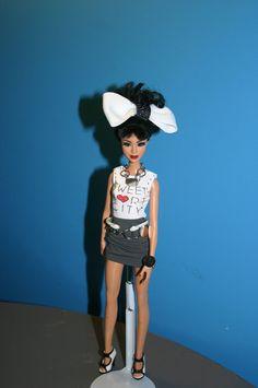 fashion doll curly black hair